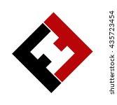 fh initial logo | Shutterstock .eps vector #435723454