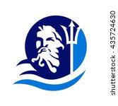 trident  poseidon  neptune logo   Shutterstock .eps vector #435724630