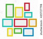Set Of Colorful Wooden Frames....