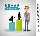 human resources design. person...   Shutterstock .eps vector #435728710