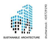 sustainable architecture... | Shutterstock .eps vector #435729190