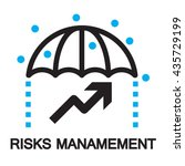 risks management icon and symbol | Shutterstock .eps vector #435729199