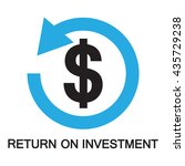 return on investment   icon and ... | Shutterstock .eps vector #435729238