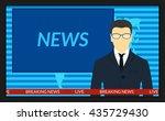 vector illustration.tv screen... | Shutterstock .eps vector #435729430