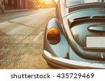 Rear Of Vintage Car   Retro...
