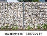 gabion fence  wall  from  steel ... | Shutterstock . vector #435730159