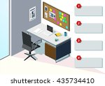 office area data | Shutterstock .eps vector #435734410