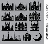 mosque icon set vector   Shutterstock .eps vector #435734590