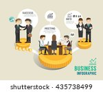 business stock market board... | Shutterstock .eps vector #435738499