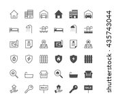 real estate icons  included... | Shutterstock .eps vector #435743044