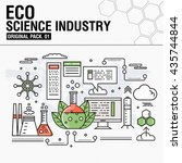 modern eco sciense industry.... | Shutterstock .eps vector #435744844