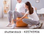 modern rehabilitation... | Shutterstock . vector #435745906