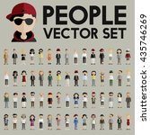 diversity community people flat ... | Shutterstock .eps vector #435746269