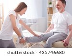 modern rehabilitation... | Shutterstock . vector #435746680