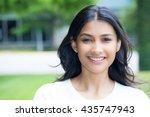 closeup portrait of confident... | Shutterstock . vector #435747943
