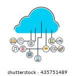 vector flat line modern simple... | Shutterstock .eps vector #435751489