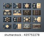vector vintage business cards... | Shutterstock .eps vector #435752278