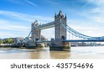 view of tower bridge over the... | Shutterstock . vector #435754696