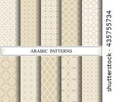 arabic vector pattern | Shutterstock .eps vector #435755734
