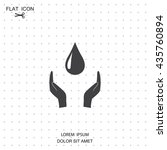 save water sign icon. hands...