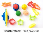 set of play dough and plastic... | Shutterstock . vector #435762010