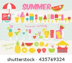 summer treat design elements... | Shutterstock .eps vector #435769324