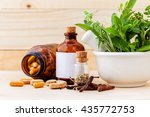 alternative health care fresh... | Shutterstock . vector #435772753