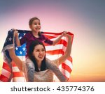patriotic holiday. happy family ... | Shutterstock . vector #435774376