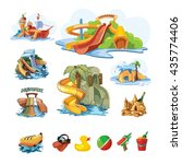 vector pictures set of water... | Shutterstock .eps vector #435774406
