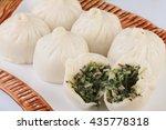 steamed buns stuffed mushrooms  ... | Shutterstock . vector #435778318