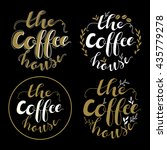 cafe and coffee shop logo... | Shutterstock .eps vector #435779278