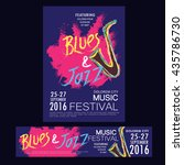 blues and jazz festival poster... | Shutterstock .eps vector #435786730