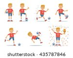 Set Of Football Player...