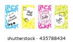 sale cards colorfull set. with... | Shutterstock . vector #435788434