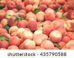 peaches close up. early morning ... | Shutterstock . vector #435790588