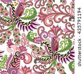 seamless pattern with pink... | Shutterstock .eps vector #435791194