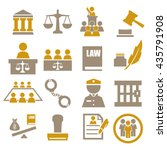 attorney  court  law icon set   Shutterstock .eps vector #435791908