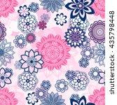 Mandala pattern, floral elements, decorative ornament. Seamless pattern background.  Arab, Asian, ottoman motifs. Vector illustration