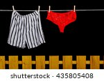 woman panties and man underwear ... | Shutterstock . vector #435805408