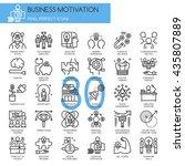 business motivation   thin line ... | Shutterstock .eps vector #435807889