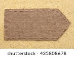 pointer of burlap lying on a... | Shutterstock . vector #435808678