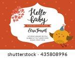 baby shower girl and boy...   Shutterstock .eps vector #435808996