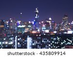 cityscape bokeh  blurred photo  ... | Shutterstock . vector #435809914