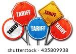 tariff  3d rendering  rough...