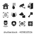 home security icons set   ... | Shutterstock .eps vector #435810526
