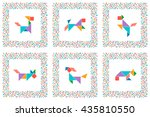 Tangram Set  Dogs. Collection...