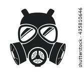gas mask icon isolated on white ... | Shutterstock .eps vector #435810646