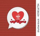 love design. romantic icon.... | Shutterstock .eps vector #435816754