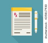 prescription pad. medical... | Shutterstock .eps vector #435817930