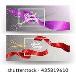 grand opening elegant banners... | Shutterstock .eps vector #435819610